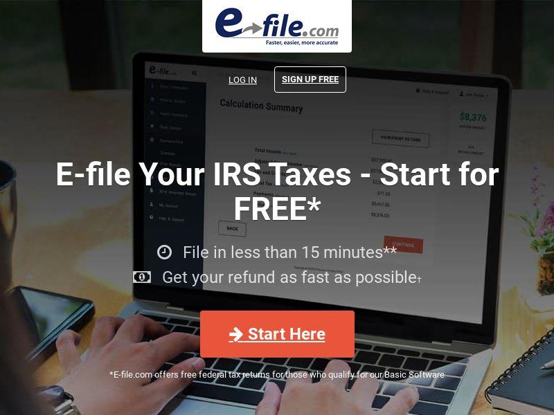 E-File.com Tax US I Nonincent CPA