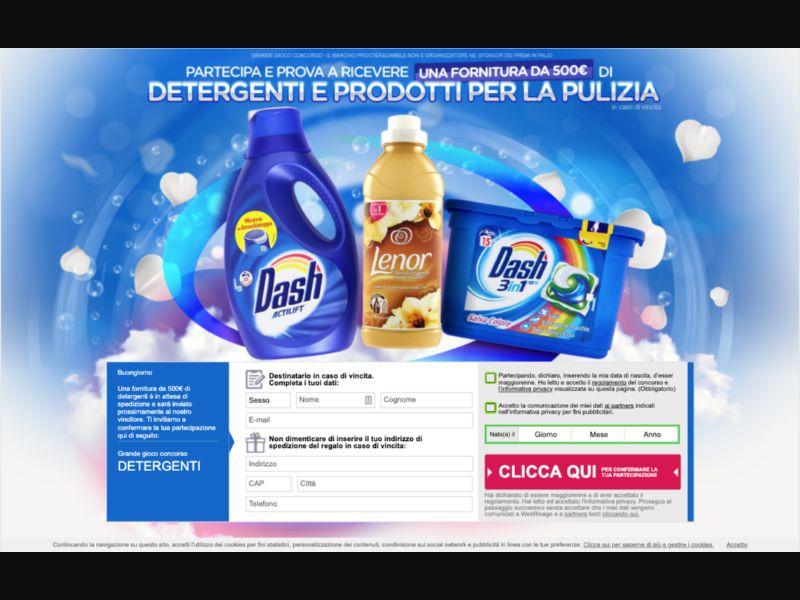 Detergenti - CPL SOI - IT - Sweepstakes - Responsive