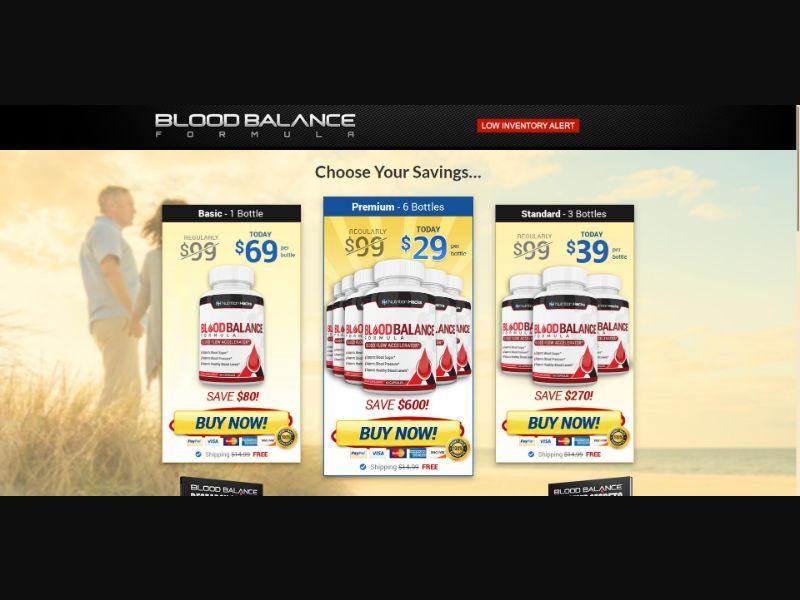 Nutrition Hacks Blood Balance Formula - Health - SS - [All GEOs]