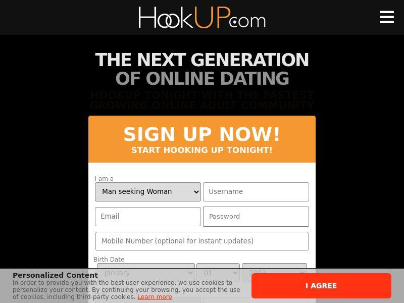 Hookup.com [US, CA, AU] |DOI| Desktop
