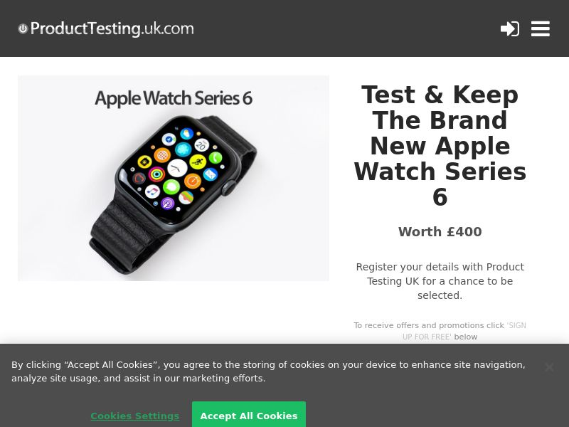 Product Testing - Test & Keep the New Apple Watch Series 6 [UK]