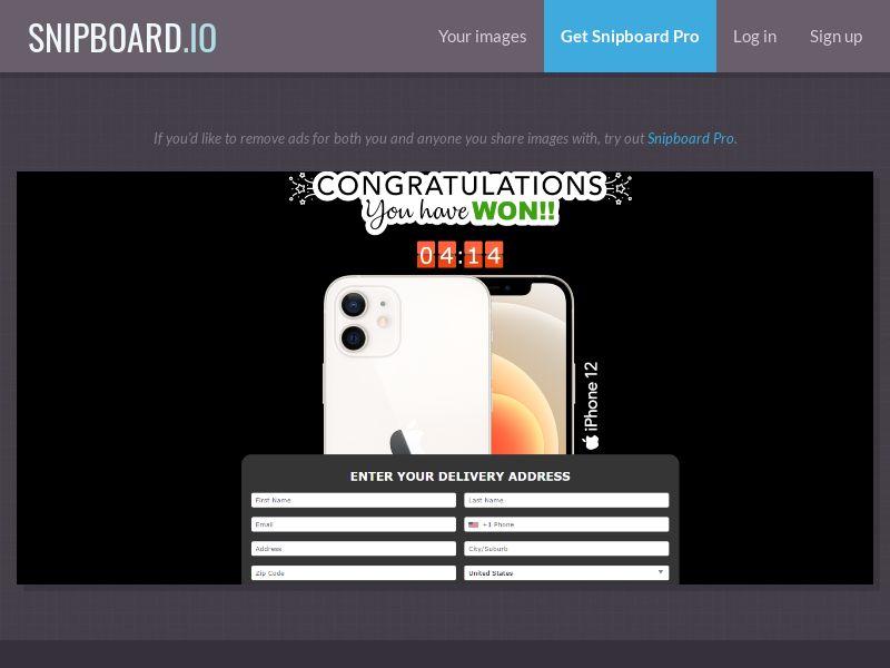 39271 - US - AbsoluteWinner - iPhone 12 Pro - CC submit (GASMOBI EXCLUSIVE)