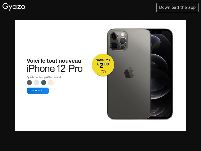 Win iPhone 12 Pro (FR) (Trial) (Personal Approval)