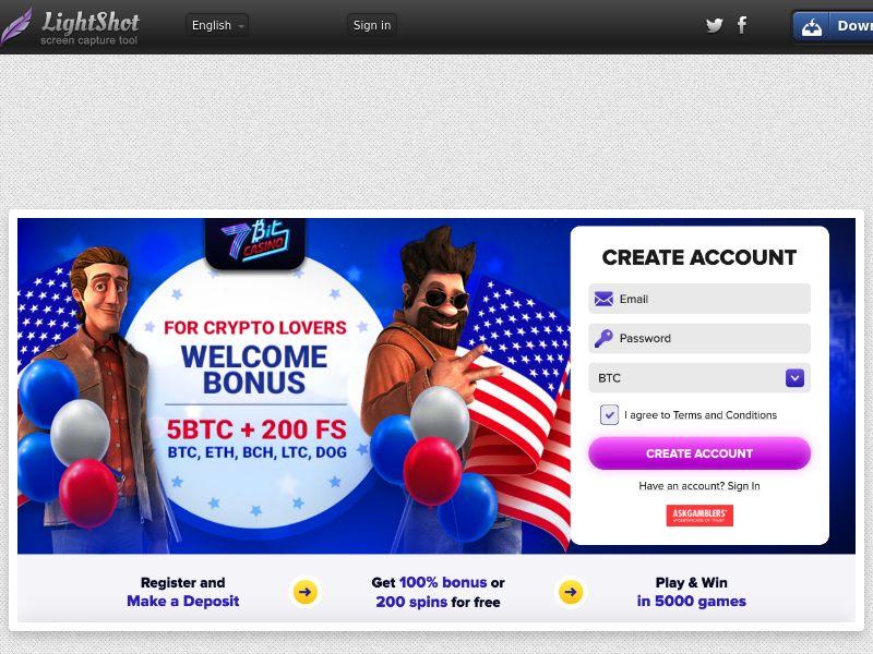 7bitCasino CPA US BTC offer - SEO only