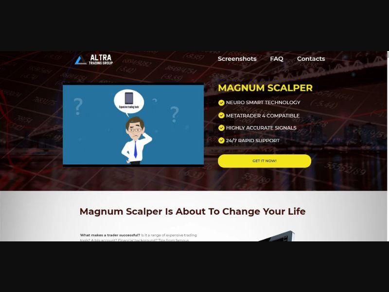 Magnum Scalper - $179 CTC - VSL - Biz Opp - SS - [All GEOs]