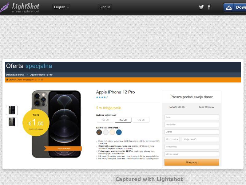 winlotsofthings iPhone 12 Amazon (CC Trial) - Poland