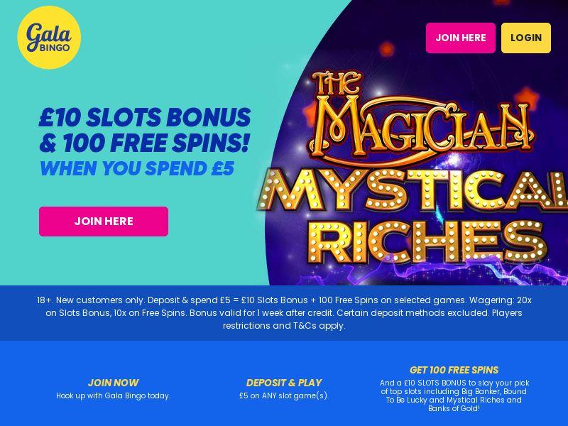 Gala Bingo - Spend £5 GET £10 - UK