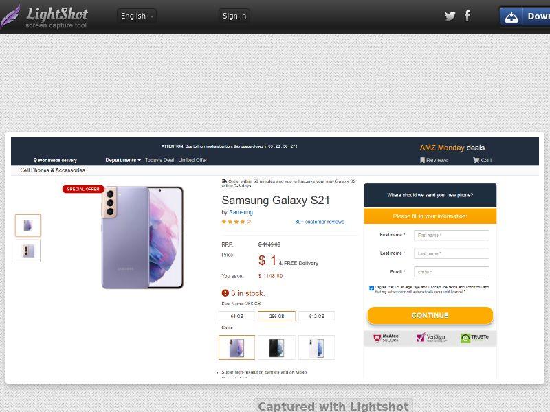 Socialmediago - Samsung 21 - Amazon LP (US) (Trial) (Personal Approval)