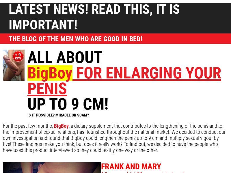 Bigboy SG - penis enlargement cream
