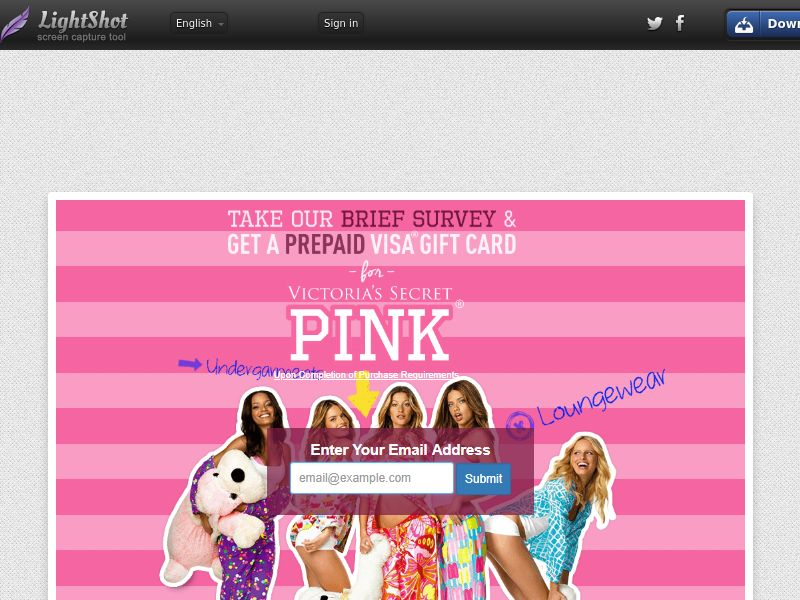 Victoria's Secret (Sweepstake) (SOI) - United States