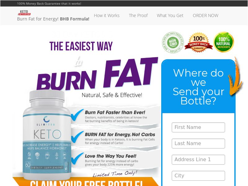 Diet -Keto Activator Single Step -US - {Social,FB,Native Ads Traffic Only }