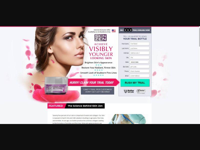 Skin Zen Collagen Retinol - Skin Care - Trial - [US]
