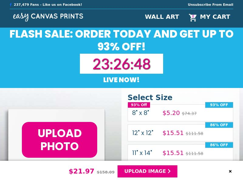 Easy Canvas Prints (Up to 93% off) - Email - CPA | US