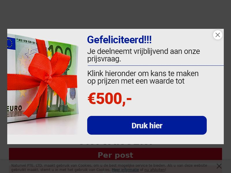 Sweepstakes Road/Race Bike €1199 - CPL - [BE | Dutch speaking]