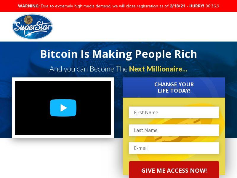 Bitcoin Superstar CPA AU, NL, AT