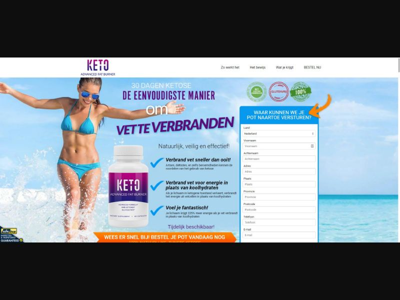 Keto Advanced Fat Burner - Diet & Weight Loss - SS - [NL]