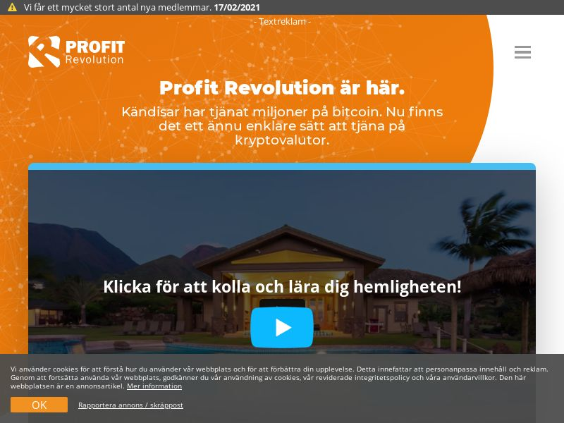 Profit Revolution SE (SE), [CPA], Business, Investment platforms, Cryptocurrencies, Financial instruments, Deposit Payment, bitcoin, cryptocurrency, finance, money