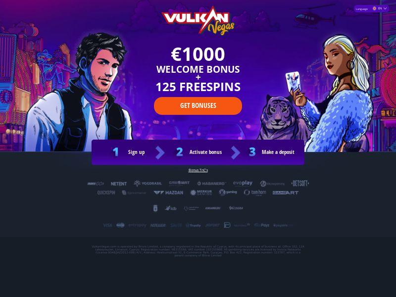 Vulkan Vegas - Push - Bonus - KZ