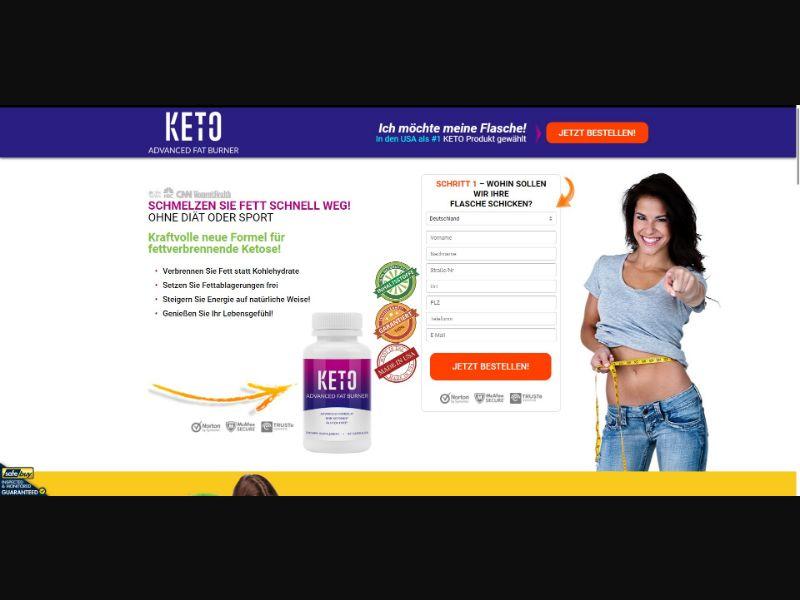 Keto Advanced Fat Burner - Diet & Weight Loss - SS - [DE, CH, AT]