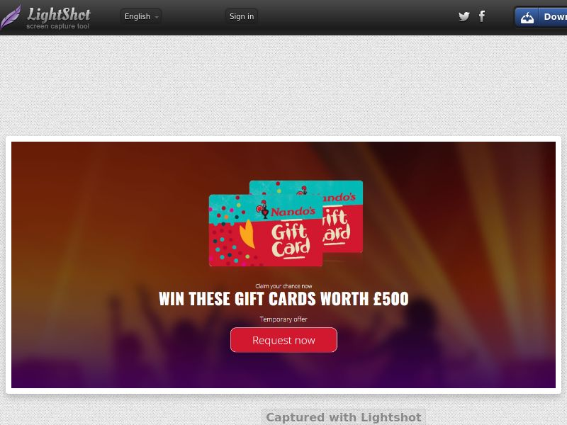 Nando's Giftcard - INCENT - UK