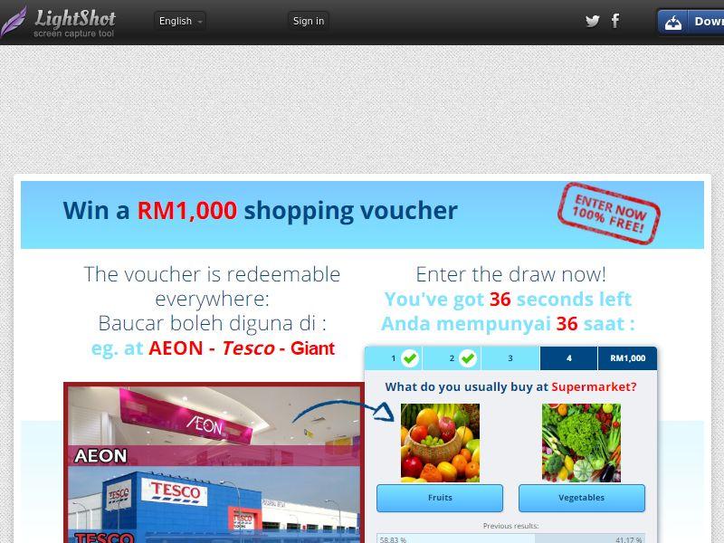 [SOI] Supermarket RM1,000 Shopping Voucher