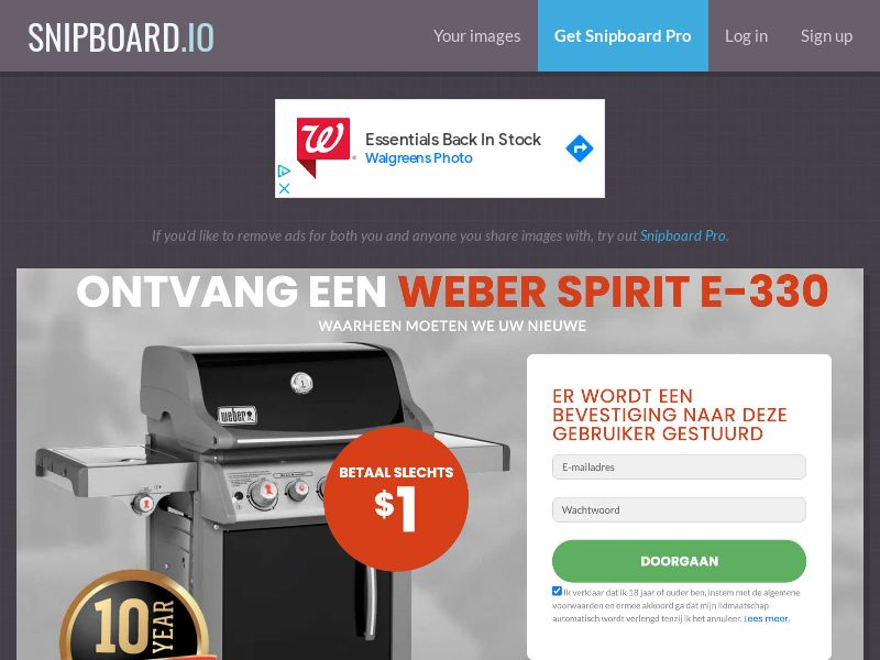 CoreSweeps - Weber Grill Spirit E-330 BE - CC Submit