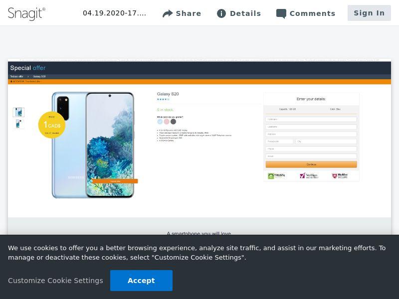 winlotsofthings Samsung S20 (Amazon)   CA