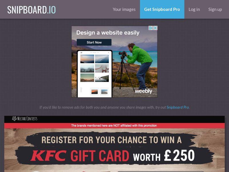 NectarContests - KFC Giftcard UK - SOI