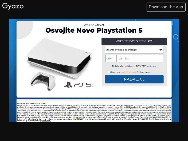 Playstation 5 SI | PIN Flow