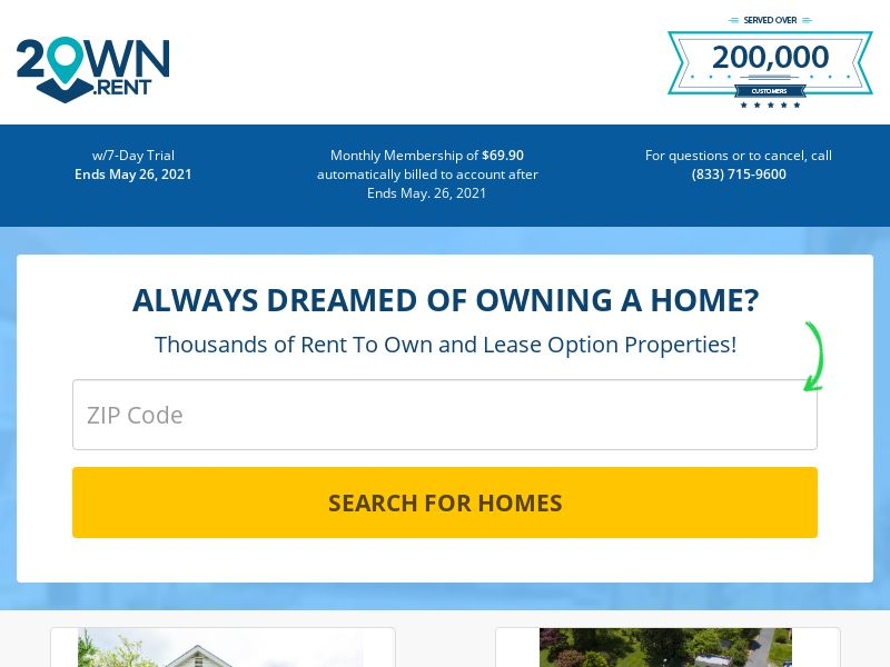 2own.rent - Rent to Own - Free Trial - [US]