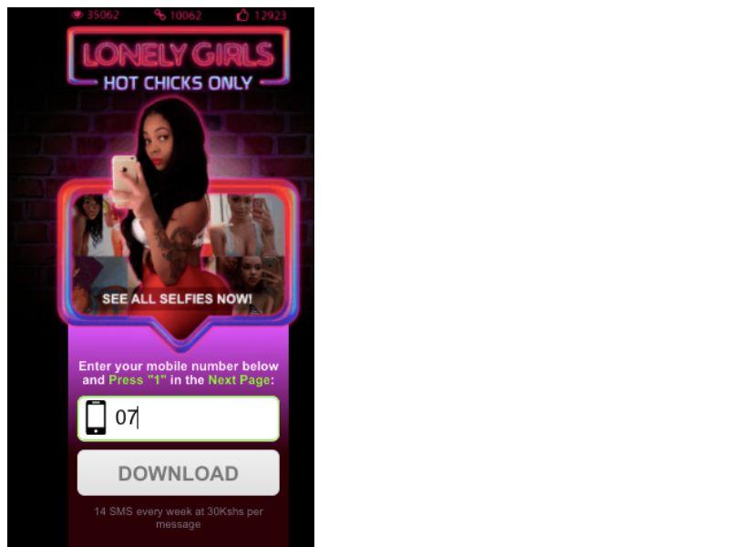 Lonely Girls Safaricom