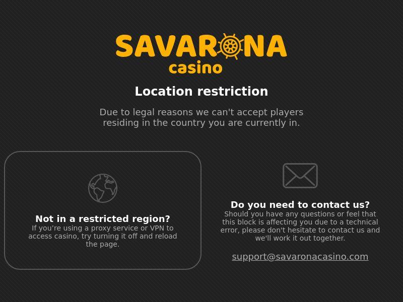 Savarona casino RS 23 countries
