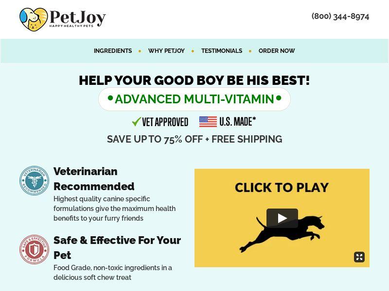 Pet Joy - PetJoy.com - Long Form - US