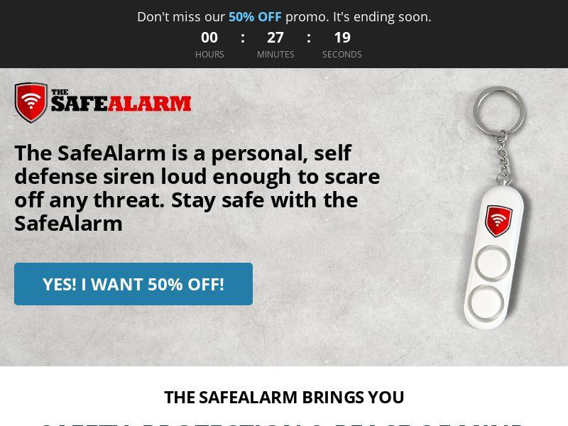 SafeAlarm - Self Defense Siren ***Creative Approval Needed