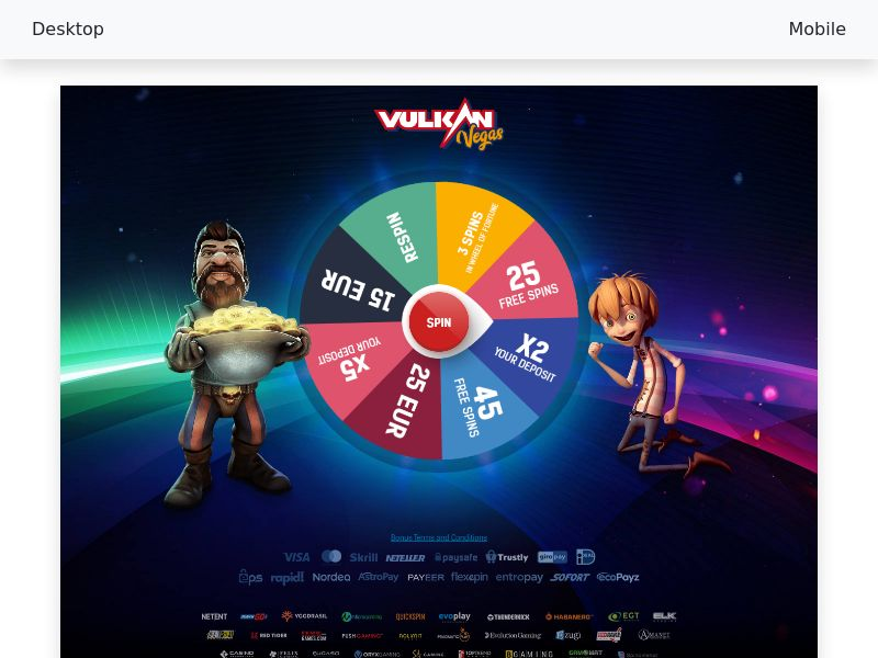 Vulcan Vegas CPA - [RO] - Social & Targeting Baseline