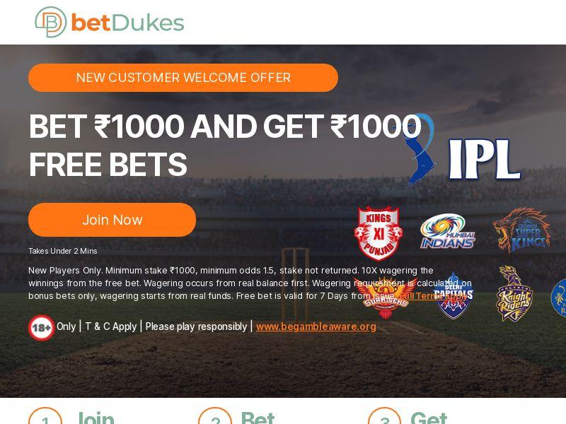 Betdukes.com Casino CPA - India