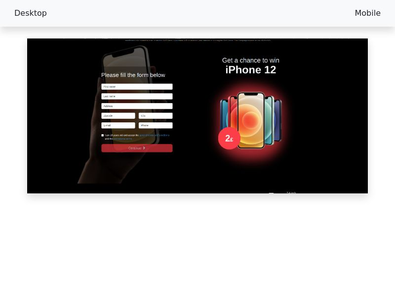Win an iPhone 12 Color Choose White - [CC-Submit] - [Multi-geo]