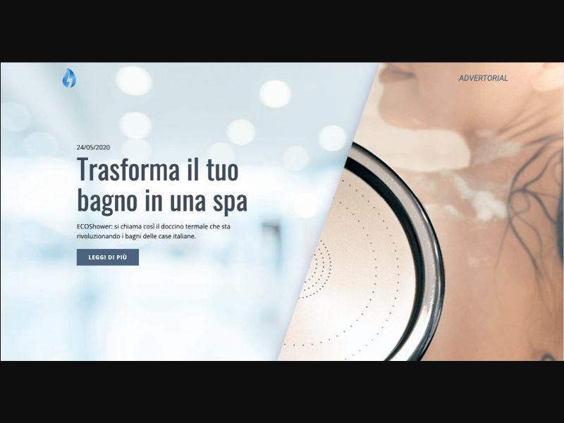 Eco Shower - CC Submit - IT - FR - E-commerce - Responsive
