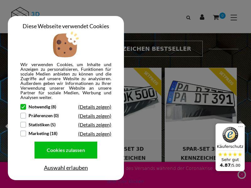 3D Kennzeichen - DE (DE), [CPS]