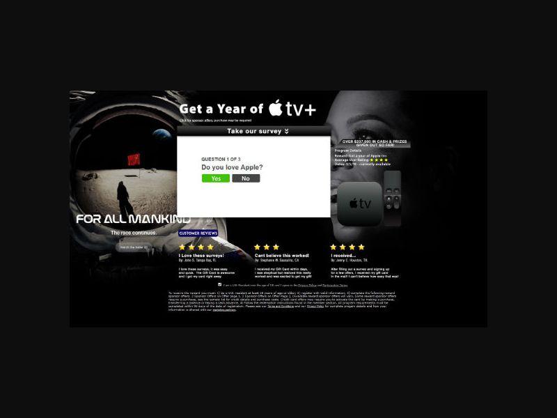Retail Rewards Club - Year of Apple TV+ - SOI (US)