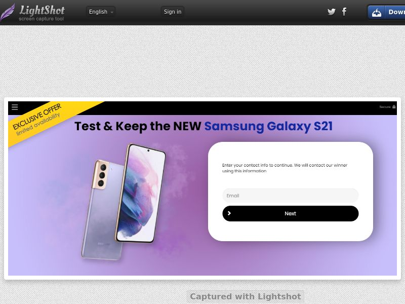 ForYourPromo - Test Samsung Galaxy S21 (US) (CPL) (Personal Approval)