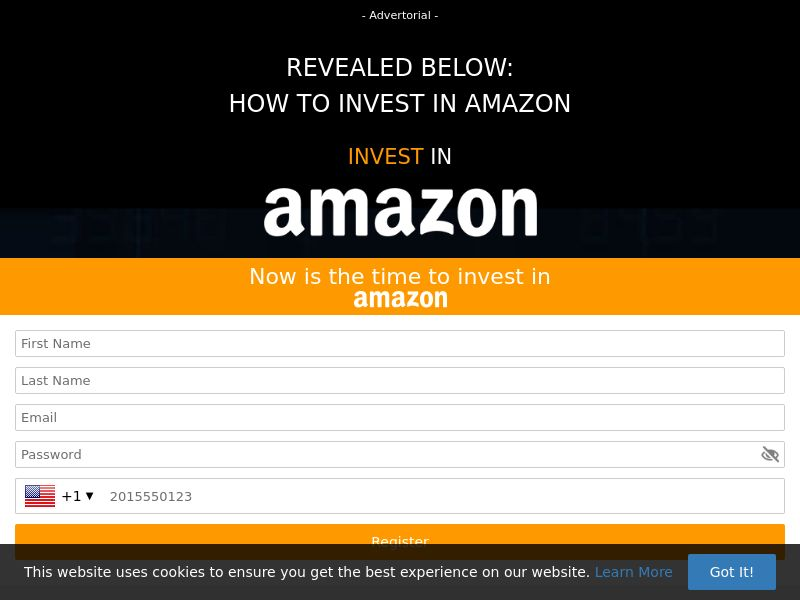 Invest in Amazon (SG) (CPS)