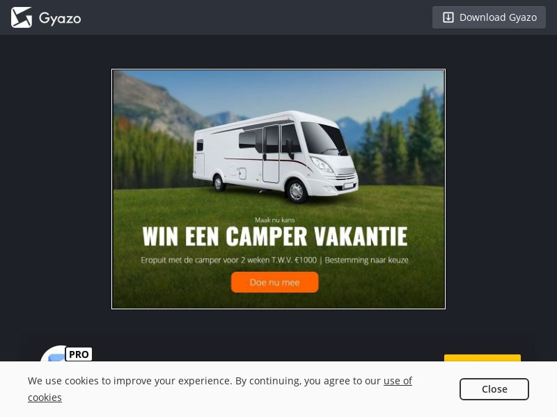 Win Camper Trip (BE) (CPL)