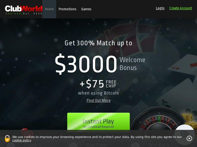 Club world casino CPA US