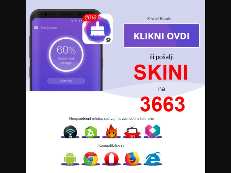 Nox cleaner (Viber style design) [RS] - Click to sms
