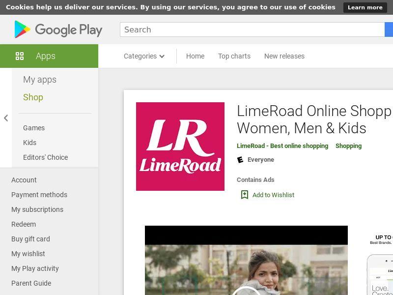 LimeRoad Online Shopping App for Women, Men & Kids AND IN