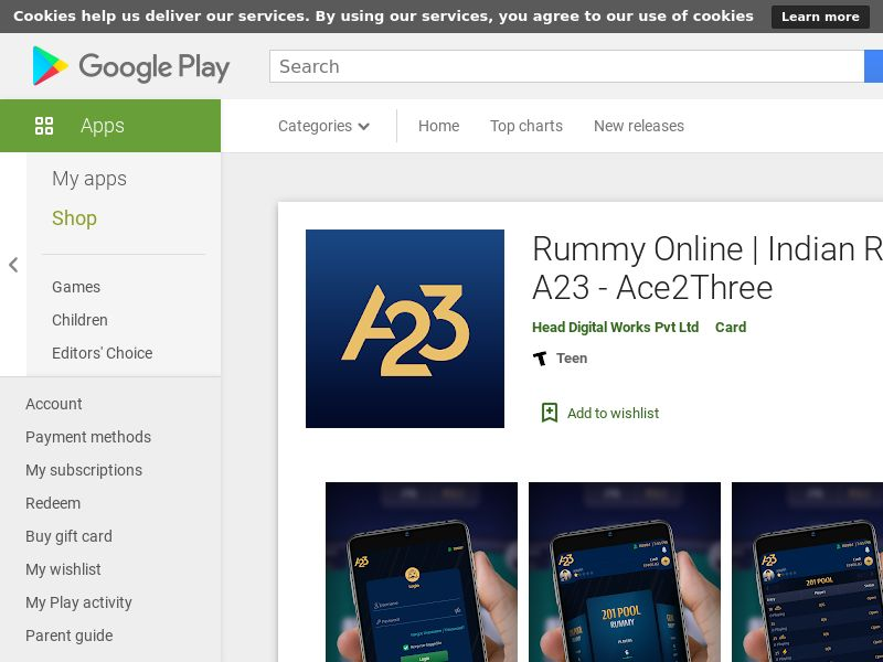 Ace2three_IN_Android *redirects only with correct GAID* (CPI)
