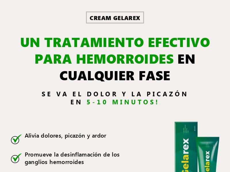 Gelarex ES - hemorrhoids treatment
