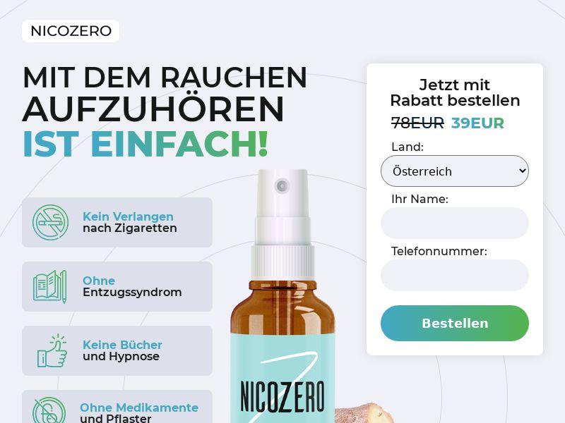 NicoZero AT - treatment for smoking