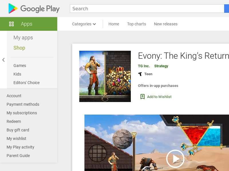 Evony: The King's Return Android CPE (Reach-1M-power)